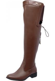 Bota Over Knee Mega Boots 968 Caramelo