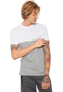 Camiseta Hering Lettering Cinza/Branca