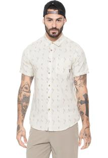 Camisa Billabong Reta Sunday Jacquard Off-White