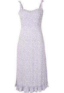 Auguste Dean Gia Floral-Print Midi Dress - Roxo