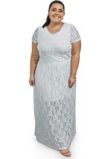 Vestido Longo Com Renda Branco