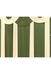 Cortina Casa Conforto Marrocos 3M - Verde Taipa