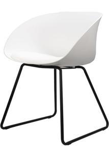 Cadeira Dandy Branca Com Base Preta - 58162 - Sun House