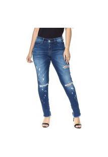 Calça Jeans Cigarrete Osmoze Skinny Lille 206124154 Azul