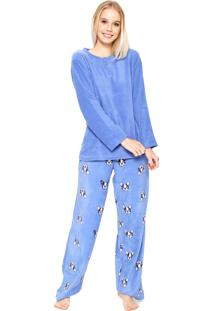 Pijama Any Any Soft Bulldog Azul