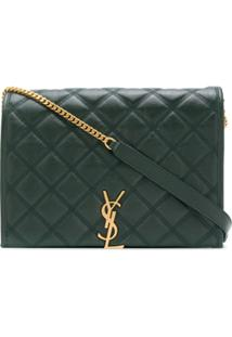 Saint Laurent Becky Small Quilted Shoulder Bag - Verde