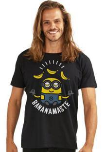 Camiseta Bandup! Minions Bananamaste - Masculino-Preto