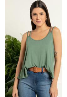 Blusa Verde Com Alças Duplas