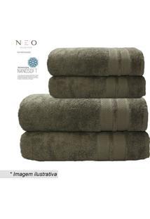 Toalha De Rosto Neo Allure- Marrom- 45X80Cm- Camcamesa