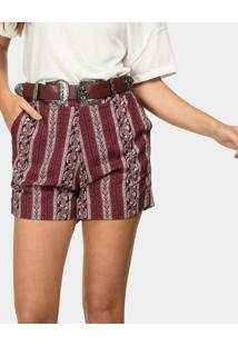 Shorts Estampado Em Tecido Boho - Lez A Lez
