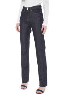 Calça Jeans Calvin Klein Jeans Reta Pespontos Azul-Marinho