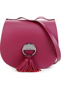 Bolsa Petite Jolie Saddle Bag Feminina - Feminino-Vinho