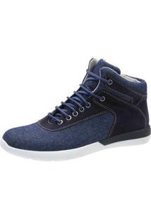 Bota Casual Avalon Estevan Jeans - Masculino-Azul