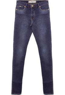 Calça Jeans Real Aleatory Feminina - Feminino-Azul