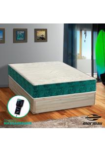 Cama Box Casal Rãºstica + Colchã£O Massageador - Mormaii - Smartzone Rupestre 138X188X67Cm - Branco/Cinza/Incolor/Marrom/Preto - Dafiti