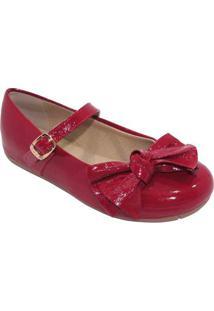 Sapato Boneca Em Couro Com Laã§O - Vermelhotoke