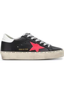 Golden Goose Hi Star Low-Top Sneakers - 90166 Black/Pink/White