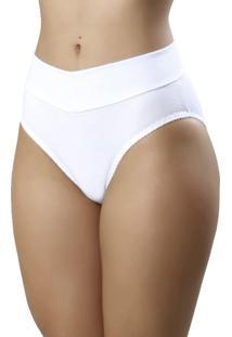 Calcinha Mardelle Em Cotton Alta Branca - Branco - Feminino - Dafiti