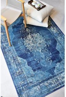 Passadeira Belga Vintage Azul 0.80X3.00 Desenho 721 142330