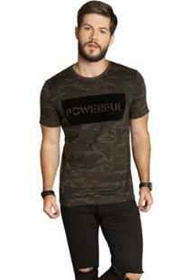 Camiseta Camuflada Surf.Com Masculina - Masculino-Marrom