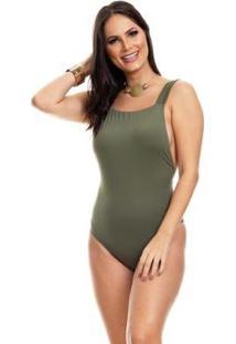 Body Clara Arruda Decote Quadrado 17012 - Feminino-Verde