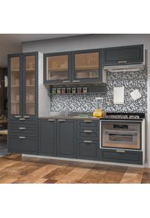 Cozinha Completa 7 Peã§As Americana Multimã³Veis 5665Smf Branco/Grafite - Branco/Incolor - Dafiti