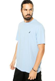 Camiseta Nautica Logo Azul