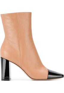 Gianvito Rossi Ankle Boot Cap Toe Com Salto 90Mm - Neutro