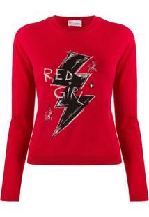 Redvalentino Suéter De Tricô Red Girl - Vermelho