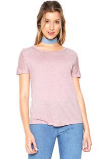 Camiseta Das Avessas Pérolas Rosa
