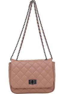 Bolsa Smartbag Correntes Trasnversal - Feminino-Rosa