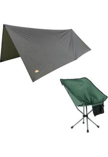 Kit Toldo Amazon Para Redes E Barracas + Cadeira Dobrável Camping Guepardo Joy - Unissex
