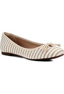 Sapatilha Shoestock Laço Gorgurão Feminina - Feminino-Bege