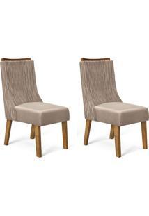 Conjunto Com 2 Cadeiras De Jantar Amélia Tronco E Caqui