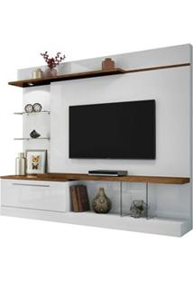 Estante Home Theater Para Tv Até 60 Pol. Allure Branco/Canyon - Hb Móv