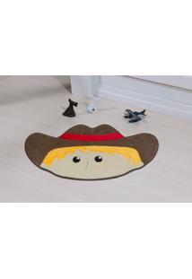 Tapete Antiderrapante Formato Cowboy Castor 0,78 X 0,55 Guga Tapetes