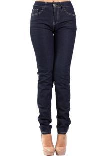 Calça Jeans Skinny Alta Pespontos Escura AlphorriaA.Cult