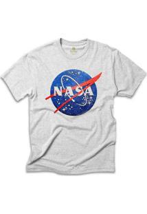 Camiseta Geek Cool Tees Nasa Vintage - Masculino-Mescla Claro