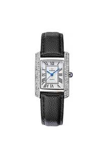 Relógio Feminino Wwoor 8806 - Preto E Prata