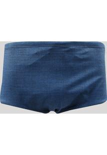 Sunga Masculina Slip Estampada Azul Marinho