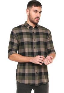 Camisa John John Regular Fit Xadrez Kevin Verde