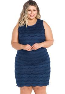 Vestido Secret Glam Azul