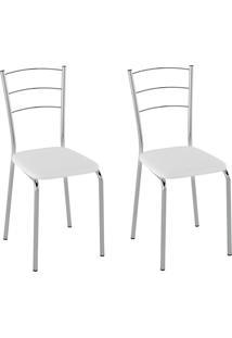 Cadeiras Kit 2 Cadeiras Corino Pc160012 Branco - Pozza