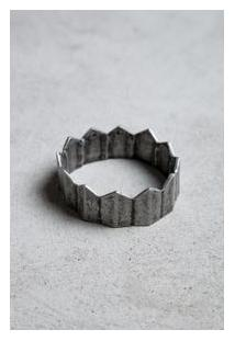 Bracelete Metal Prata Velho