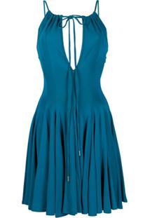 Dsquared2 Vestido Com Pregas E Detalhe De Recortes - Azul