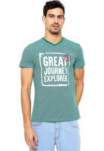 Camiseta Enfim Estampada Verde