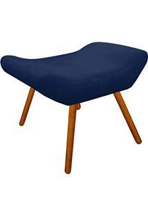 Puff Decorativo Aline Retangular Suede Azul Marinho - D'Rossi