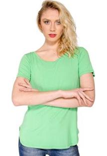 Blusa T- Shirt Básica Lucidez - Feminino-Verde
