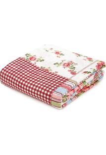 Kit De Colcha Com Porta Travesseiros Casal Andrezza Vinho