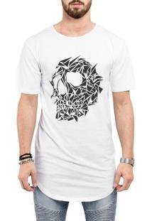 Camiseta Criativa Urbana Long Line Oversized - Masculino